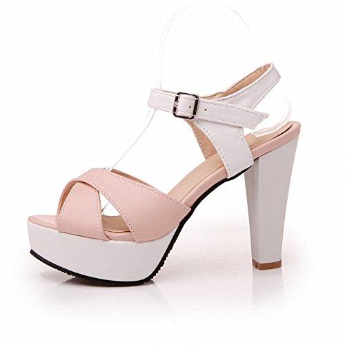 Draagarmmode Damesgesp Zoete Elegantie Barbie Jurk Plateau Chique Hoge Broche Hak Sandalen Roze