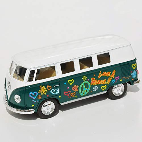 VW Disco Bus, Color Options for Miniature Garden, Fairy Garden, Deep Green