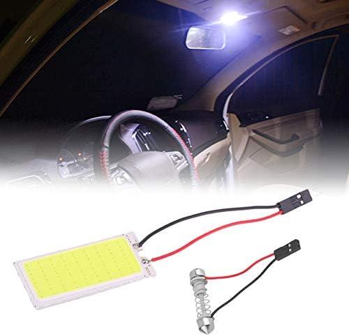 Saikogoods T10 ba9s花飾り3のアダプター12Vが付いている車のドームパネルLEDの穂軸36の破片50 * 20 mm車のパネルの読書屋根LEDの球根 白