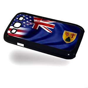Case for Samsung Galaxy III/3 with Flag of Turks And Caicos Islands and USA