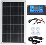 BESPORTBLE Solar Mobile Light System Emergency Charger with Controller Solar Plates for Boat Caravan Rv 50W 18