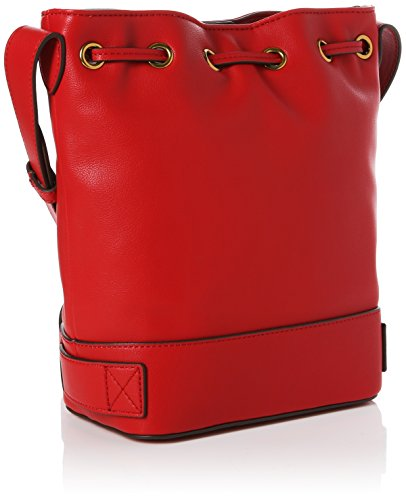 Love Moschino Nappa Grain Pu Rosso - Borse Baguette Donna, (Red), 11x26x24 cm (B x H T)