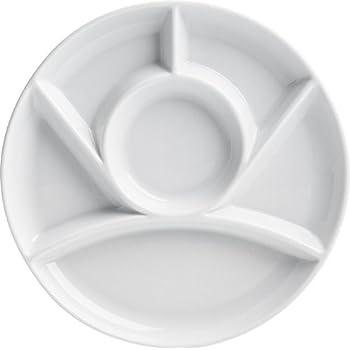 Amazon Com Trudeau Maison White Stoneware 9 Inch Round