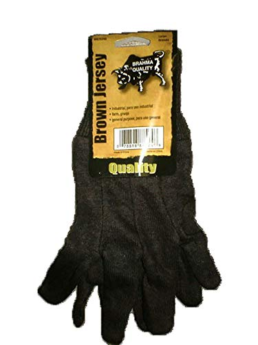- Pip Consumer WA7524A PE Brown Large Jersey Glove - Case of 12