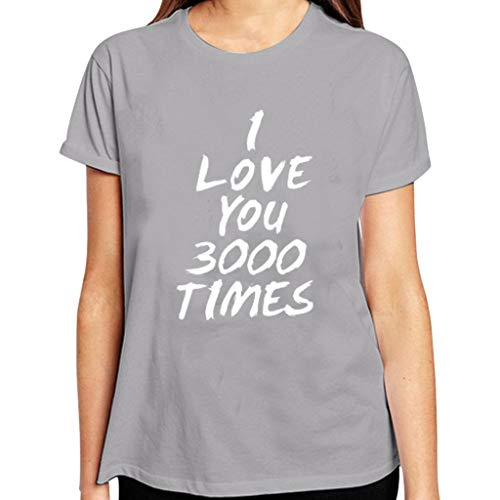 Best Gifts for Her/He, I Love You 3000 Times Women Men Lastest T-Shirt Tees Short Sleeve Wild Printing Tops - Dress Halter Charmeuse Print