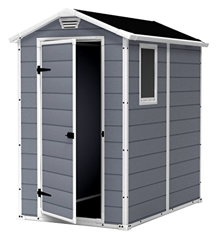 Cheap  Patio Storage Shed House Looking Wood Like Texture Design Grey Gray White..