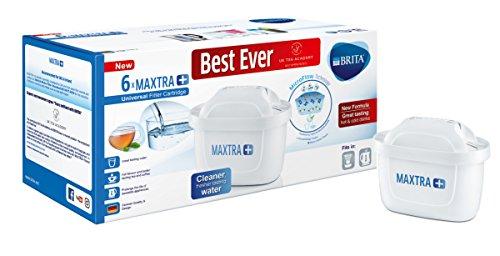 BRITA Maxtra+ Water Filter Cartridges, White, Pack of 6 (UK Version)