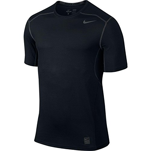 Men's Nike Pro Hypercool Top Short-Sleeve Shirt Black/Dark Grey Size Small