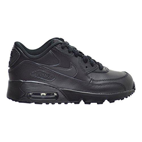 NIKE Air Max 90 LTR(PS) Little Kids Shoes Black/Black 833414-001
