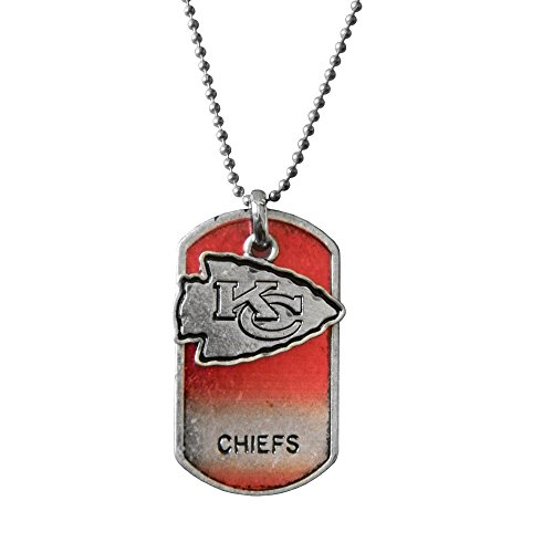 NFL Kansas City Chiefs Dog Tag Charm Necklace