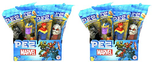 PEZ Marvel Candy Dispensers Individually Wrapped PEZ Candy and Dispensers with Tru Inertia Kazoo (24 Pack) (Dispensers Pez Avengers)