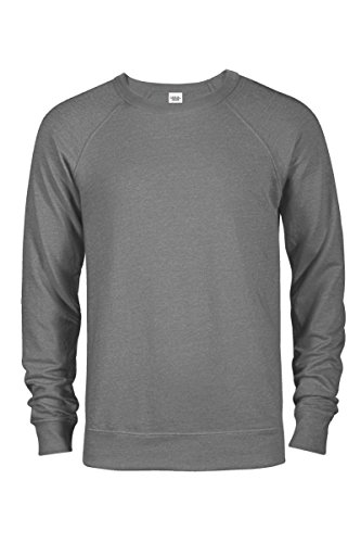Polyester Terry Cloth (Casual Garb Men's Crew Neck Sweatshirts French Terry Crewneck Sweatshirt For Men Graphite Heather Large)