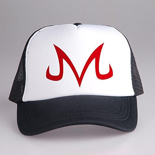 [Dragon Ball Z Majin Goku Symbol Trucker Cap Hat White and Black CPT-089 C-1 G-4] (Trucker Girl Costume)