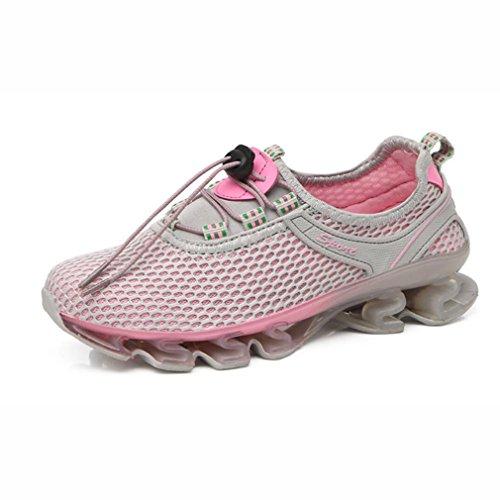 YaXuan Damen Sneakers, Outdoor Wanderschuhe, Mesh-Sportschuhe, Laufschuhe, Schnell Trocknende Schuhe, Leichte Freizeitschuhe, Komfortabel, Ideal für Den Sommer (Farbe : Ein, Größe : 38) B