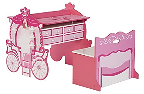 Amazon.com: O\'Kids All in Fun Carriage Activity Table and Armoire ...