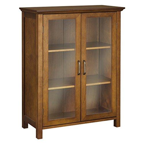 in Double Door Floor Cabinet-Chamberlain Double Door Floor Cabinet (Oak 2 Door Floor Cabinet)