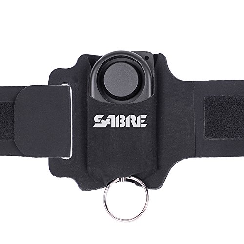 SABRE Runner Personal Alarm - 130dB (1,000 Feet/300M Range) with Adjustable/Reflective/Weather-Resistant Wrist Strap for Walking & Running Outdoors