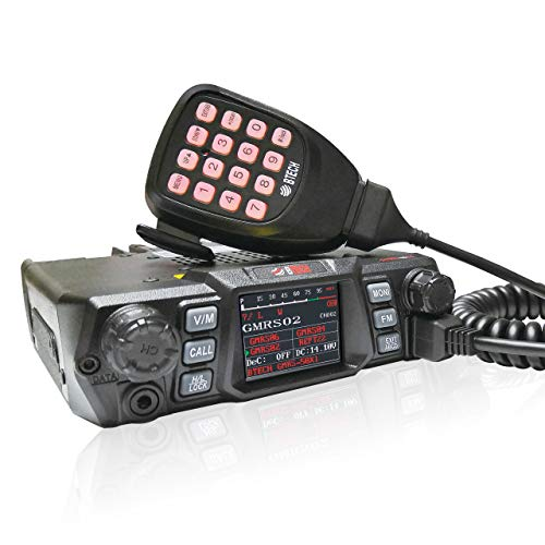 - BTECH Mobile GMRS-50X1 50 Watt GMRS Two-Way Radio, GMRS Repeater Capable, with Dual Band Scanning Receiver (136-174.99MHz (VHF) 400-520.99MHz (UHF))