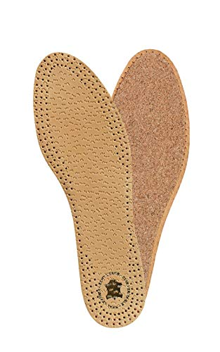 KAPS PECARI Cork Premium Shoe Insoles Made of Top Quality Vegetable Tanned Sheepskin Leather and Natural Cork, Elegant and Comfortable, All Sizes (40 EUR/US 9 Women)