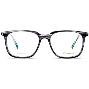 FONEX Square Prescription Eyeglasses Spectacles Myopia Optical Frames Eyewear