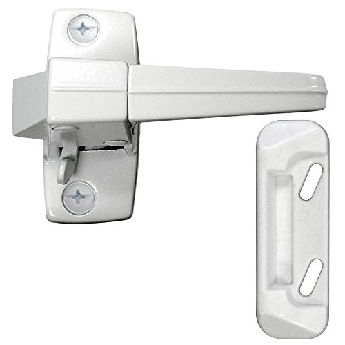Ideal Security ZD Inside Latch for Storm and Screen Doors Solid Strike Included White - Inside Latch