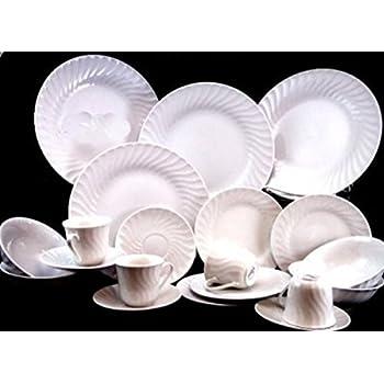 Gibson Embossed Seashells 20-piece Dinnerware Set White  sc 1 st  Amazon.com & Amazon.com | Gibson Embossed Seashells 20-piece Dinnerware Set ...