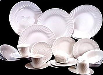 Gibson Embossed Seashells 20-piece Dinnerware Set White & Amazon.com | Gibson Embossed Seashells 20-piece Dinnerware Set ...