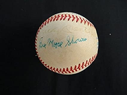 ce17fb7e0 Ralph Houk, Moose Skowron, Hank Bauer, Mickey Mantle, Whitey Ford, and