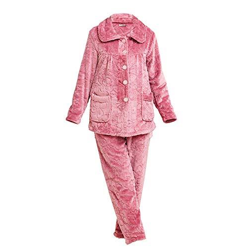 164cm 172cm Manga Edad Coral Gruesa Pijamas Mujer Mediana A Vellón Larga 47 Y 57kg Otoño 75kg Hengyu L158 Xxl164 65 Franela Traje Primavera De Para Servicio Domicilio Swq7qRY