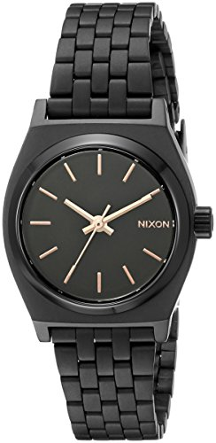 (Nixon Women's A399957 Small Time Teller Analog Display Japanese Quartz Black Watch)