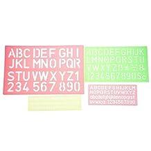 Bilipala Plastic Letter Stencils, Lettering Number Stencils Set, Set of 4, Assorted Color