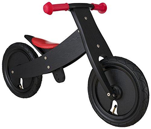 BIKESTAR-Premium-305cm-12-pulgadas-Bicicleta-sin-pedales-para-nios-de-2-aos-con-el-marco-ajustable--Edicin-de-madera-natural--Negro--Crece-a-la-vez-que-su-hijo