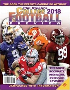 Phil Steele's 2018 College Football Preview - National Cover: Phil