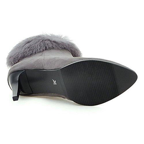COOLCEPT Women Boots Zipper Black 1JtCuZzxVX