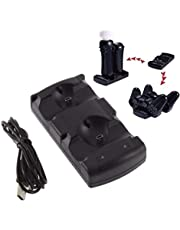 JIAIIO 2in1 Dual Charging USB Powered Dock Charger for Sony Playstation 3 Controller Joystick for Sony PS3 Controle and Move Navigation