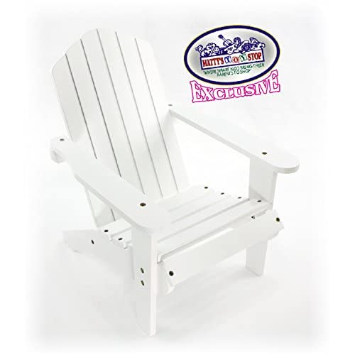 70off Mattys Toy Stop White Wooden Doll Furniture Adirondack Deck