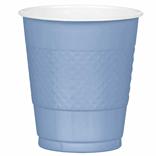Light Blue Plastic Party Cups