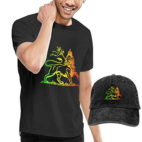 Goldsmith Sally Rasta Lion of Judah Big Boys Short Sleeve T-Shirt and Hat Costume Set -