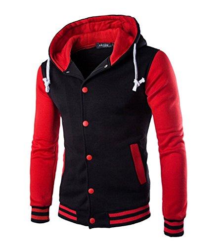 Trifuness Varsity Jacket Letterman Jacket Baseball Jacket With Long Sleeve Banded Collar