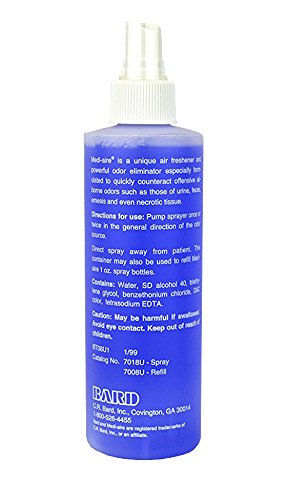 BARD HOME HEALTH DIV 577018U 8 oz. Medi-Aire Biological Odor Eliminator Spray Bottle, Unscented