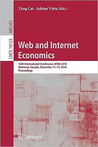 Web and Internet Economics: 12th International Conference