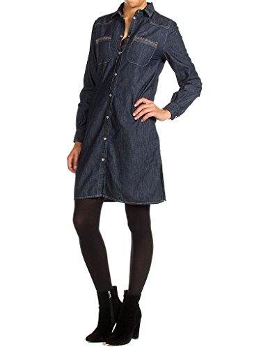für langarm blusenkleidung slim fit 100 Jeans frau kleid Carrera 498 Waschung Denim Dunkelblaue qICBxwz