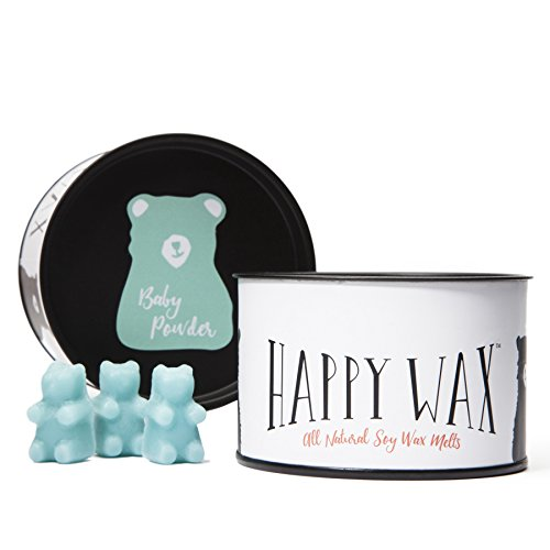 Happy Wax Baby Powder Scented Soy Wax Melts - Bear Shapes Pe