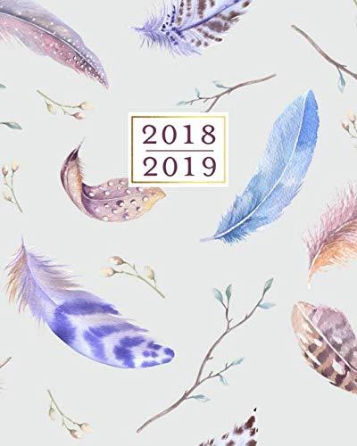 (2018 - 2019 Weekly Planner: Boho Vintage Bird Feathers 16 Month Agenda Book, September 2018 - December 2019)