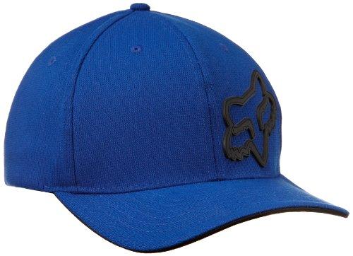 Ski Cap Logo Hat (Fox Men's Flex Fit Legacy Logo Hat, Blue, L/XL)