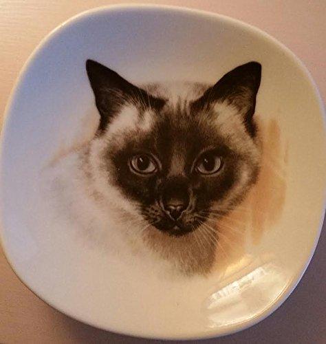 DECOR_Vintage Schumann Arzberg SIAMESE Cat Plate, 1 of 6