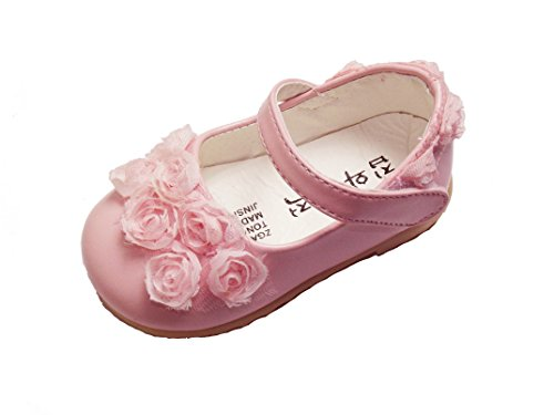 Cinda Baby Girls Flower Shoes Pink 12-15 Month