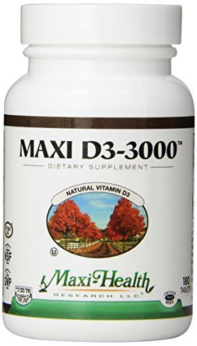 Maxi D3-3000 Nutrition Supplement, 180 Count by Maxi