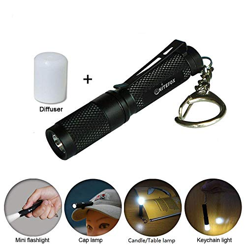 Mini AAA Keychain flashlight K3,high bright 150 lumens 3 levels,multipurpose as caplight camplight tablelight,small bright waterproof torch for EDC,reading,sleep,dog walking,camping,hiking, Emergency