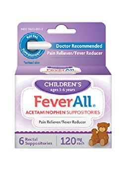 FeverAll Children's 120 mg Rectal Suppositories 6 Each (Pack of - Acetaminophen Suppositories Acephen
